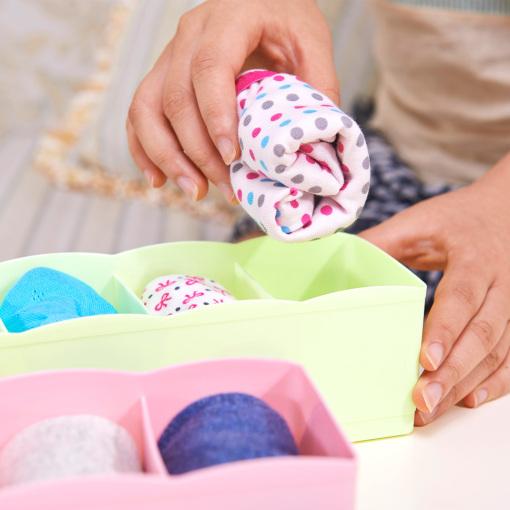 内衣袜子收纳整理盒(5格)