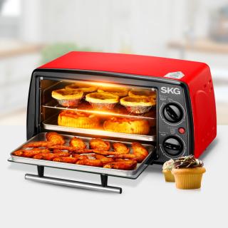 家用迷你烘焙烤箱(12L-红黑) SKG kX1701