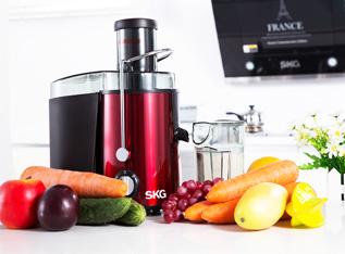 건강健乐 家庭实用榨汁机-红