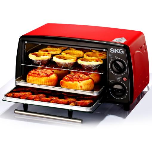 家用迷你烘焙烤箱(12L-红黑)